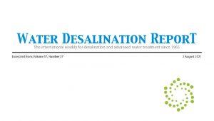 Water Desalination Report Blog Post